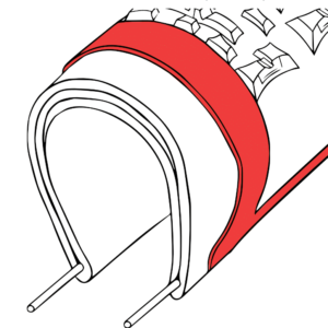 Rendering of Hutchinson's Hardskin puncture protection belt