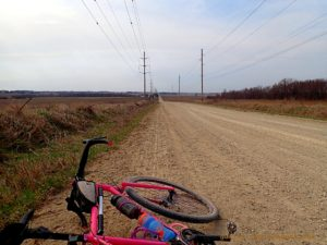 Bicycle on gravel road