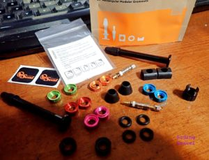 Detail of Orange Seal tubeless accessories