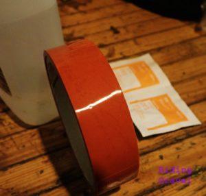 Orange Seal rim tape.