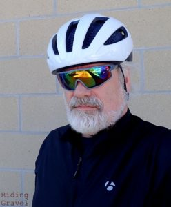 The author with the Starvos WaveCel helmet on