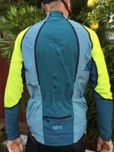 Rear view of the C-7 zip-off jersey