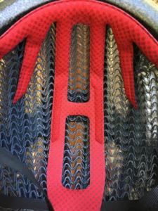 Interior view of a Starvos WaveCell helmet
