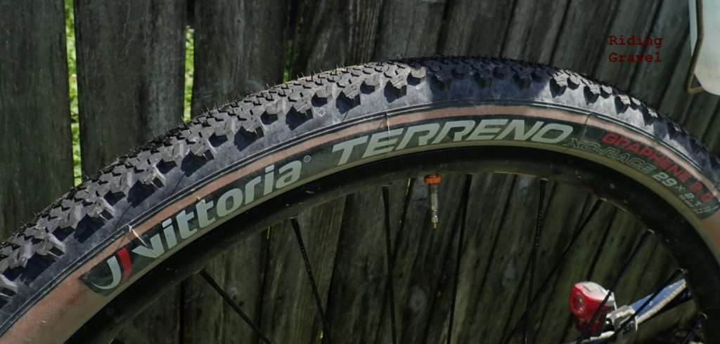 Close up of the Terreno XC tire