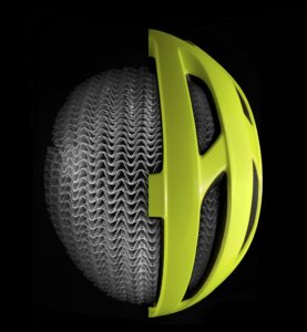 Cut-away of Starvos Wavecell helmet