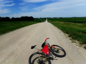 Image of a bicycle on a gravel road