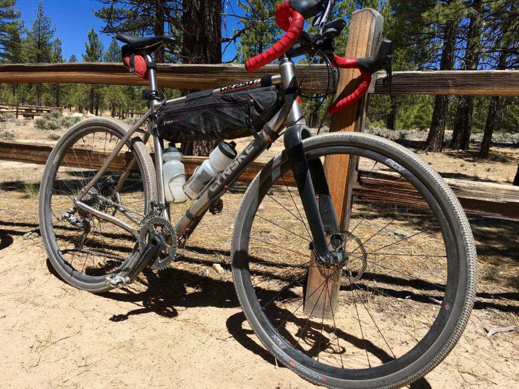 The Hutchinson Touareg 700 X 40mm tires on Grannygear's Lynskey GR250