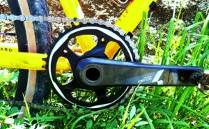 Detail of crank set on a Standard Rando v2