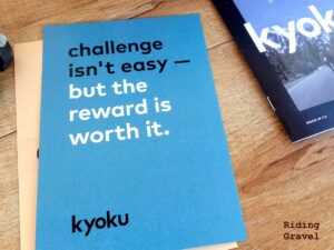 Encouragement card found in the tin of shake packets from Kyoku