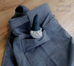 A gnome in the back pocket of the Stolen Goat Gravel Short
