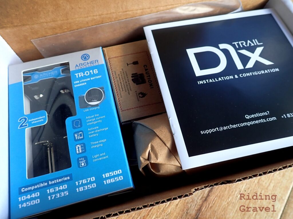 Archer Components D1x Trail shifting system in the box