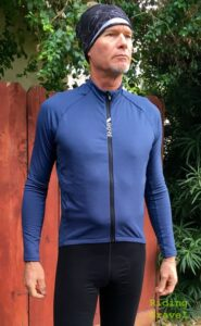Grannygear models the C5 Thermo Jersey