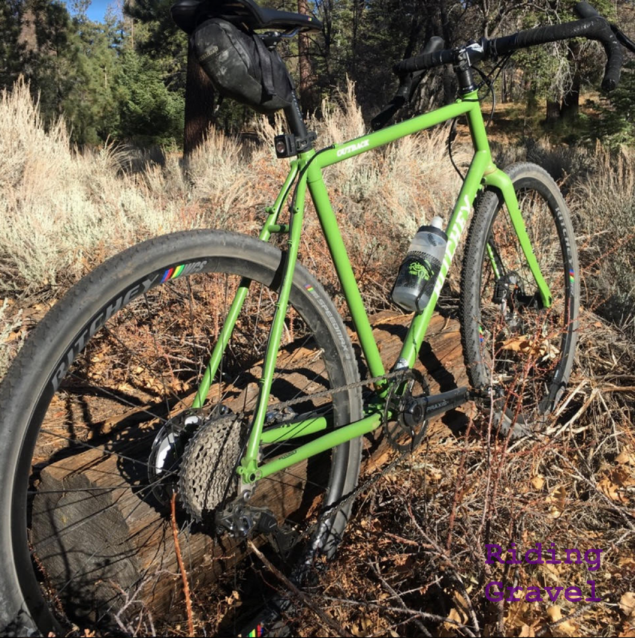 The Ritchey Design Outback in a rustic setting