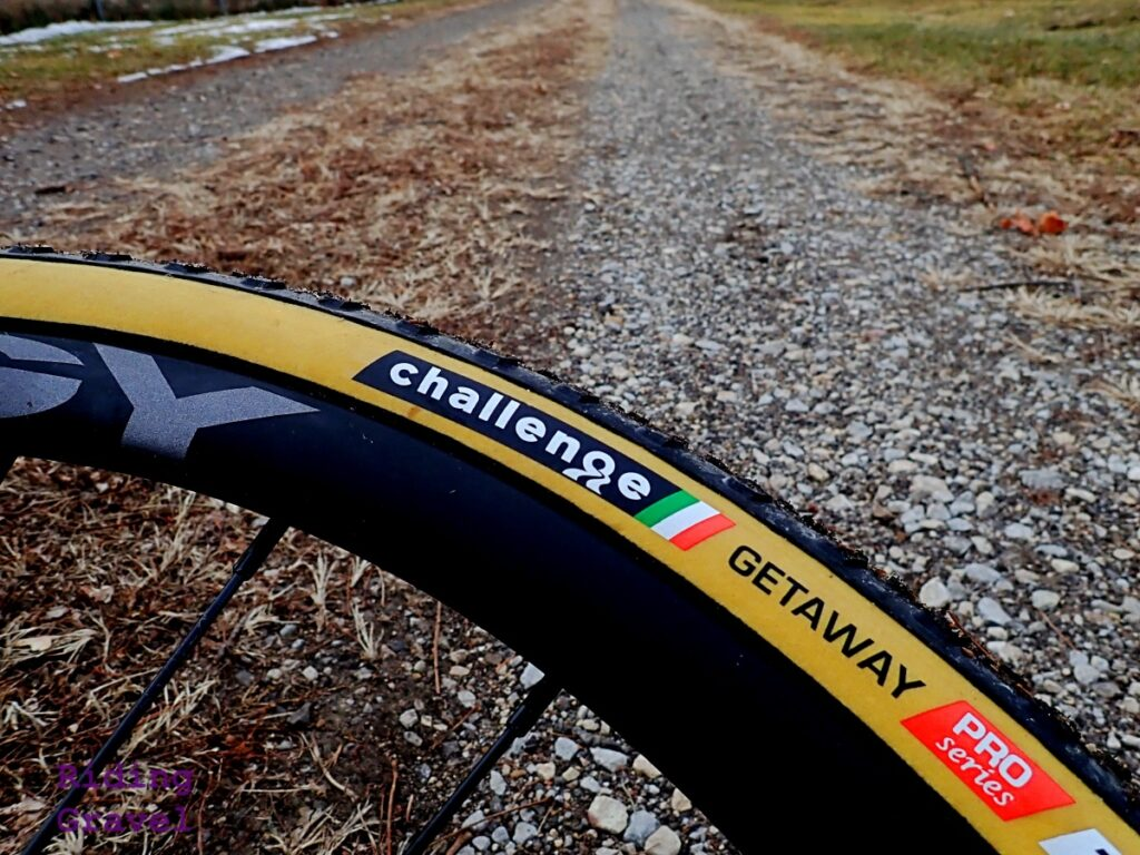 Close up of the Challenge Tires Getaway