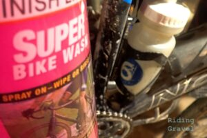 Super Bike wash by Finish Line and a bicycle in the background