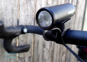 Close-up of the Ravemen CR500 light
