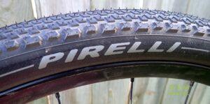 Detail shot of the Pirelli Cinturato Gravel H tire