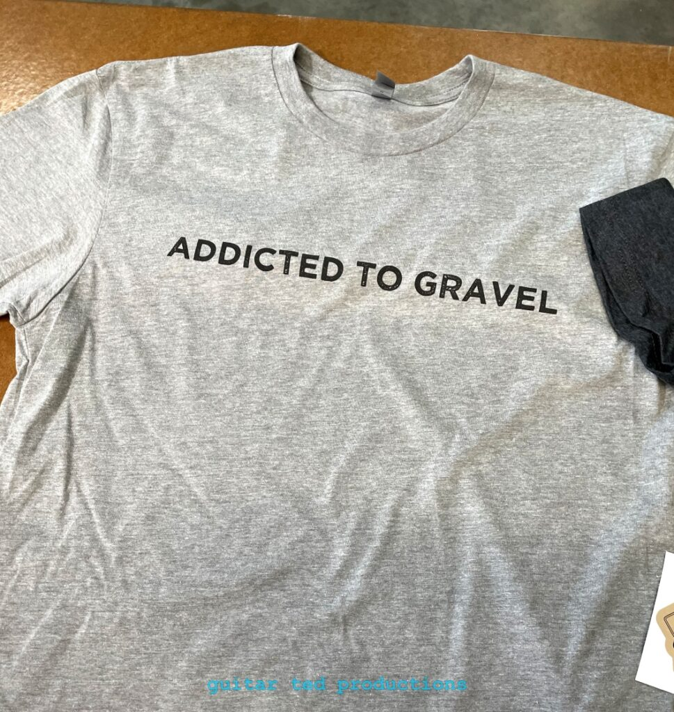 """The Riding Gravel """"Addicted To Gravel"""" shirt"""