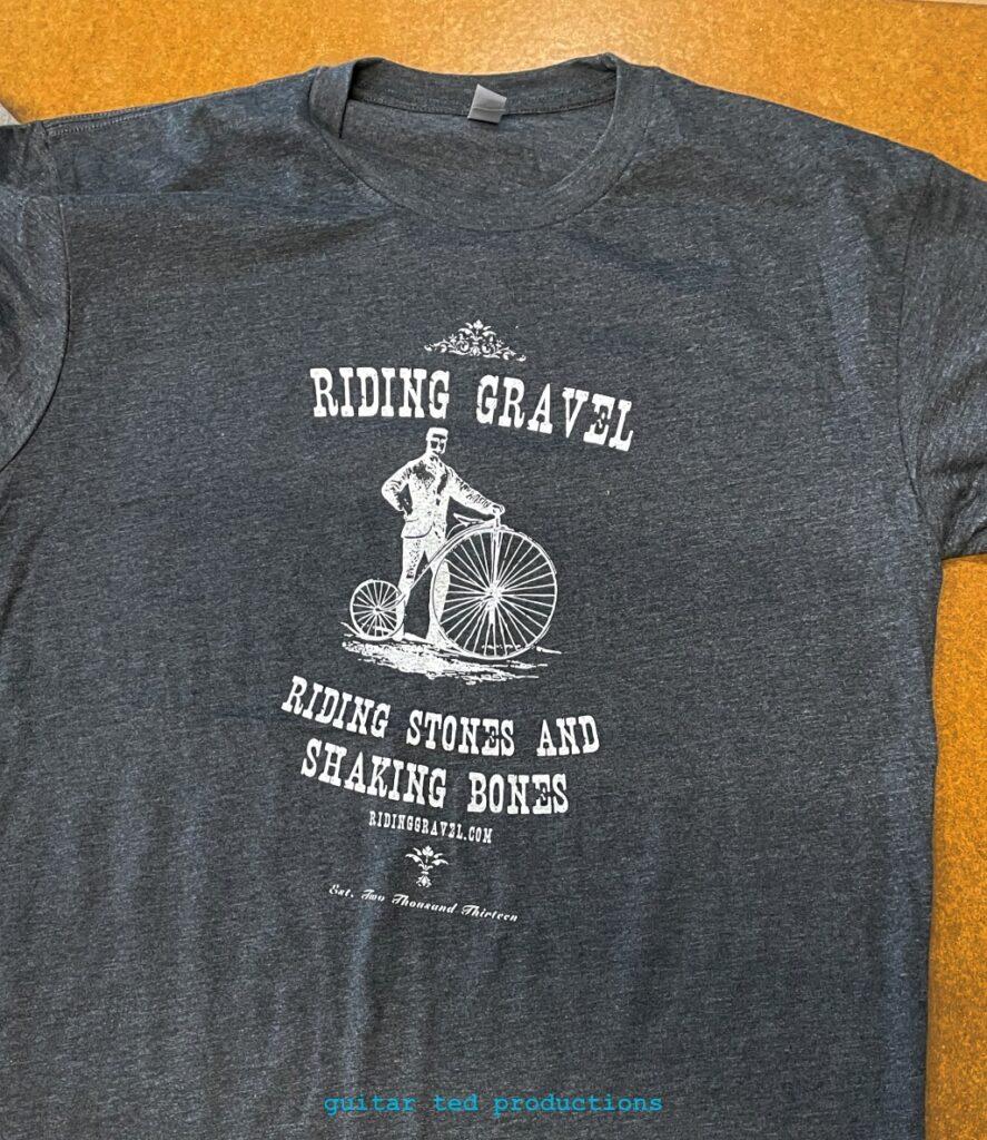 "Riding Gravel ""Riding Stones Shaking Bones"" t-shirt"