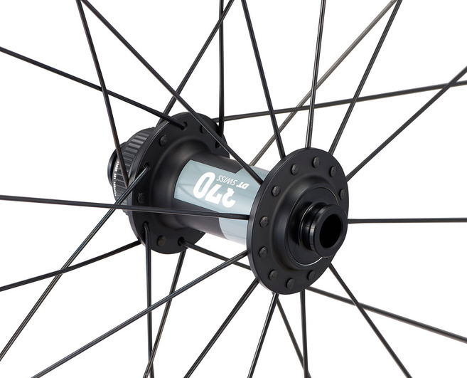Detail of the Roval Terra C wheel with new DT Swiss 370 hub