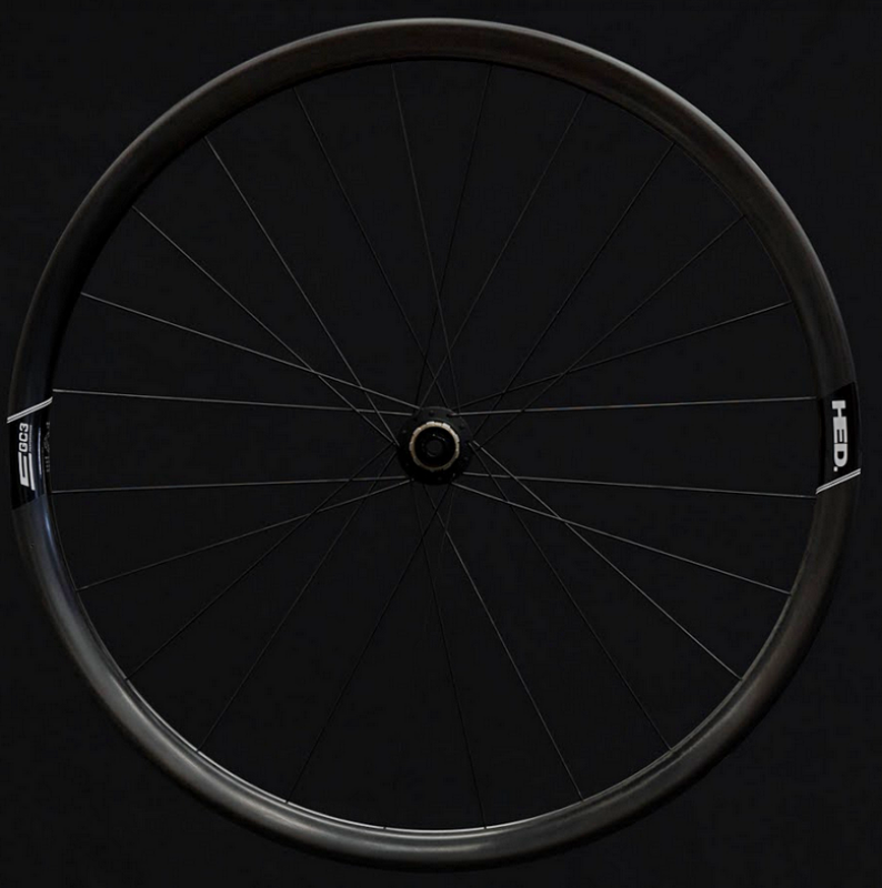 Side view of a HED Emporia GC3 wheel