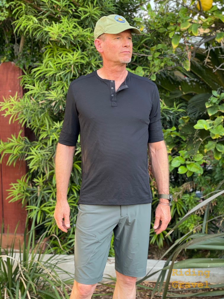 The GORE Explore shirt for men as modeled by Grannygear