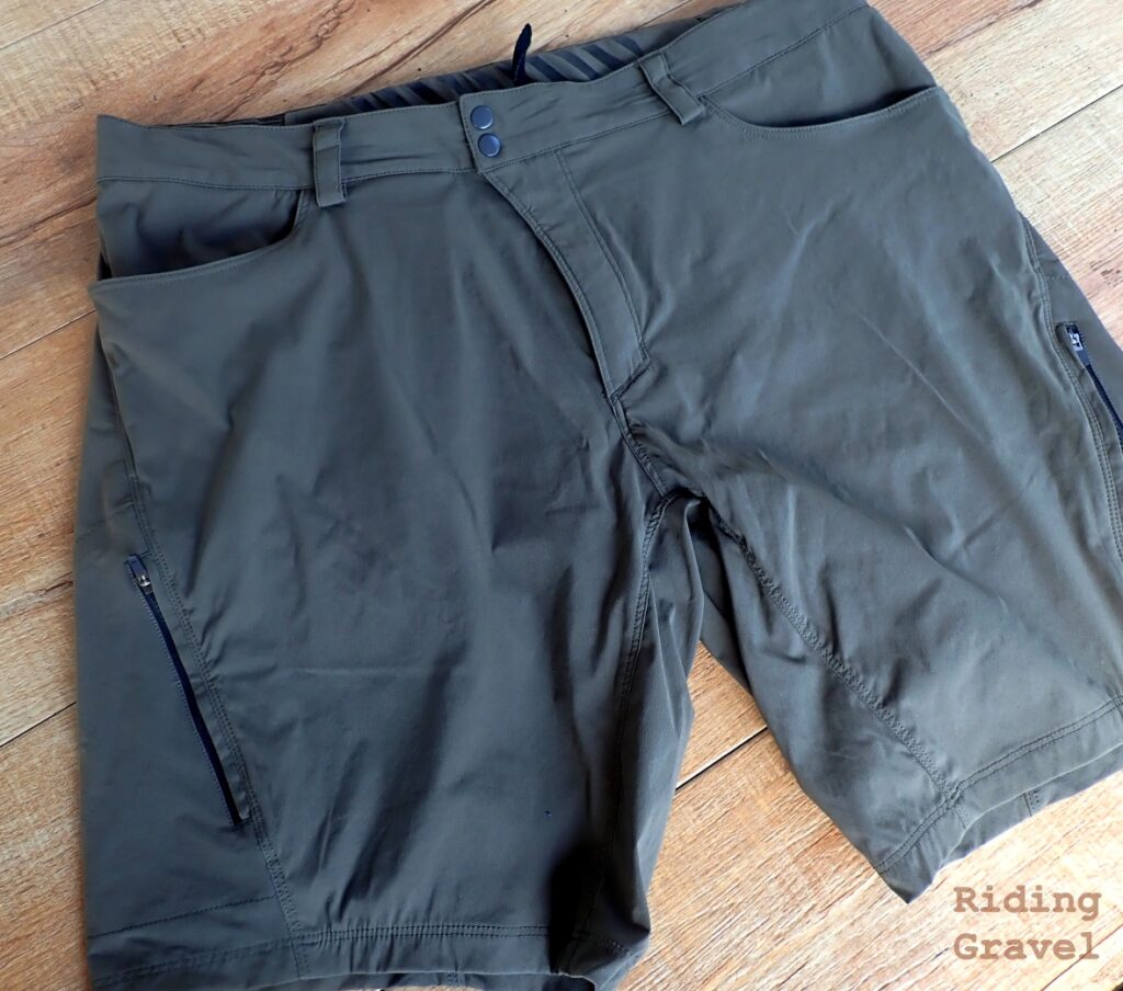 The Showers Pass Gravel Shorts in Fatigue Green