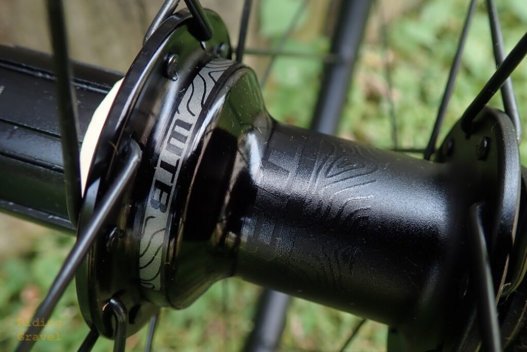 A close-up of the new Frequency hubs which are laced to the CZR rims