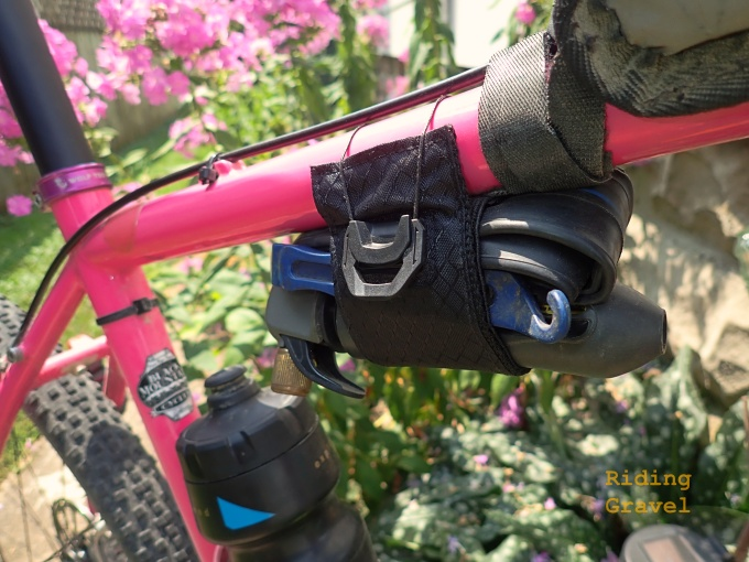The KOM Tube Strap with ATOP Dial as mounted to the top tube of the author's bike