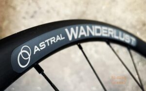 Close up of the Astral wanderlust rim sticker