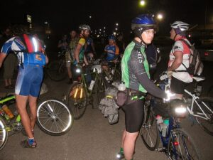 Riders at the start of the first Dirty Kanza 200 in 2006.