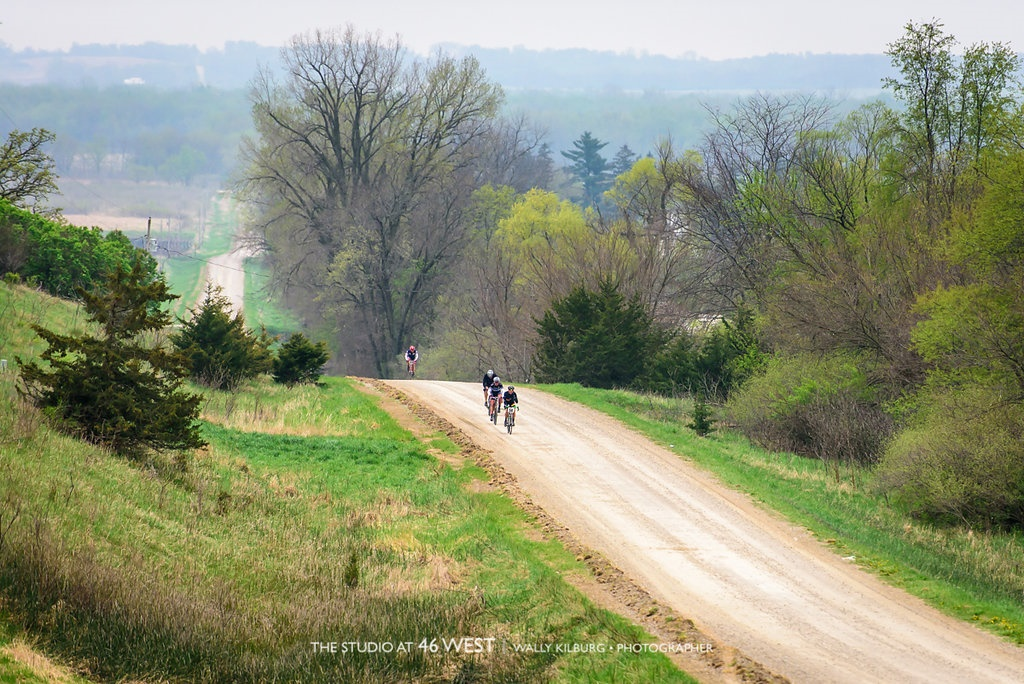 Cyclists on a rural road